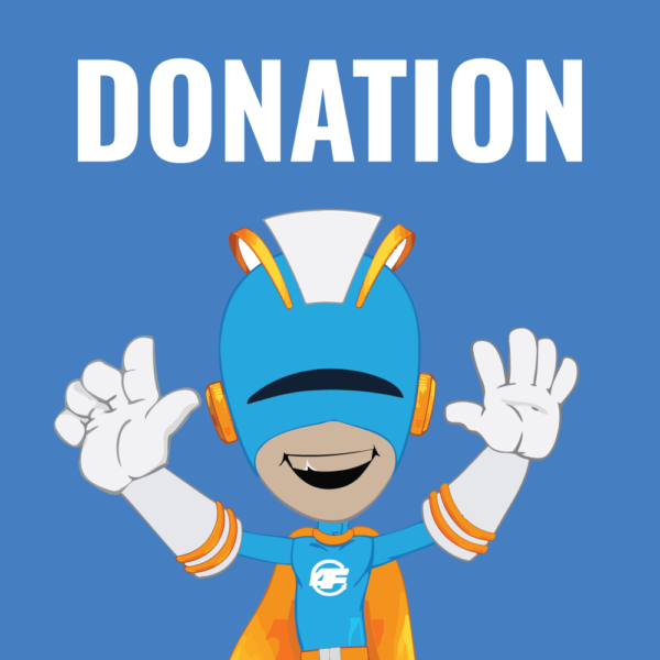 Captain Boof and the word Donation